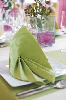 Ubrousek ELEGANCE LILY zelená, 35 ks