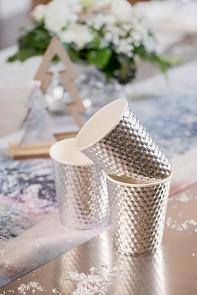 Metalické stříbrné kelímky 10 ks, 7,8 x 9,7 cm 731235003
