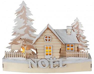 Rozsvícená vánoční chata 27 x 7 x 20 cm 731234838