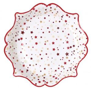 Malé vánoční dárkové tácky 10 ks, 17,5 cm 731234996