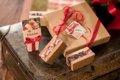 Vánoční dárkové stuhy, vícebarevné 15 mm / 4 x 2 m 731234853