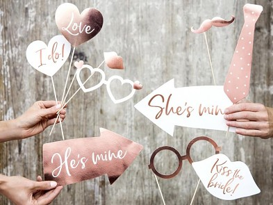 Svatební rekvitity růžové zlato, mix 731249594