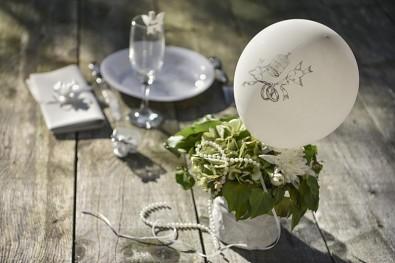 Svatební balónky bílé 8 ks, 23 cm 731251799