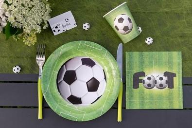Papírové talířky fotbal, 10 ks 731251991