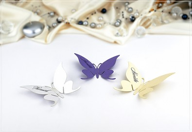 Jmenovka na skleničku - motýlek