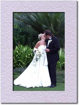 Svatební fotorámeček lila
