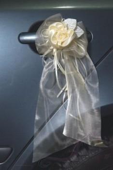 Organzová mašle ivory (champagne)
