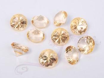 Briliantové kamínky zlaté, 10ks