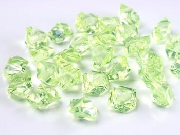 Krystalové kamínky sv. zelené, 50 ks