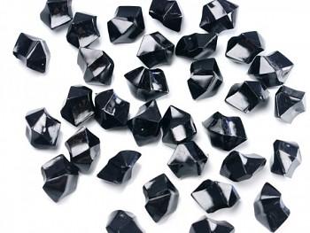 Krystalové kamínky černé, 50 ks