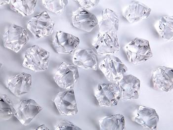 Ledové krystalky bílé, 40 ks