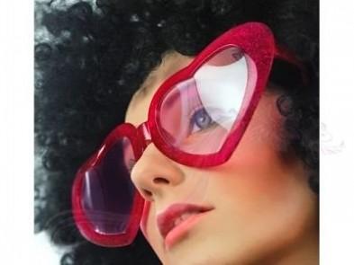 Velká srdce brýle, červené 731189928