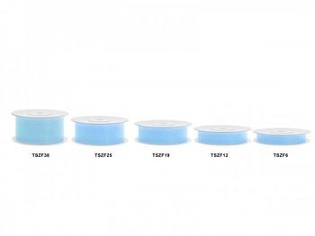 Stuha šifon sv. modrá, šířka 3,8 cm, návin 25 m