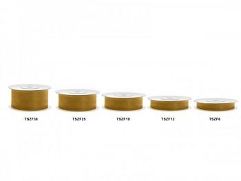 Stuha šifon zlatá, šířka 2,5 cm, návin 25 m