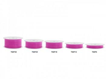 Stuha šifon růžová, šířka 2,5 cm, návin 25 m