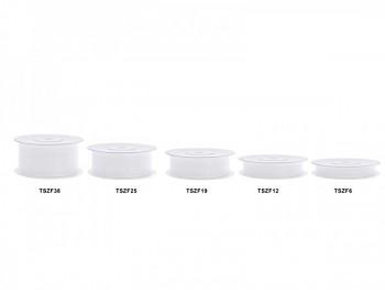 Stuha šifon bílá, šířka 0,6 cm, návin 25 m