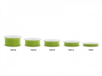 Stuha šifon zelené jablko, šířka 2,5 cm, návin 25 m