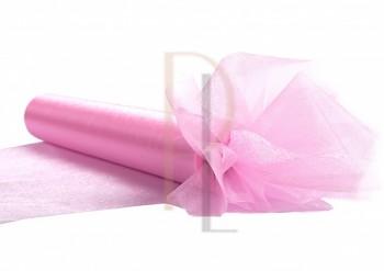 Organza sněžná, jasně růžová, šířka 36 cm, návin 9 m