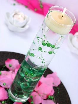 Girlanda perlová,  zelená