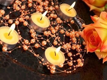 Girlanda perlová,  pomerančová