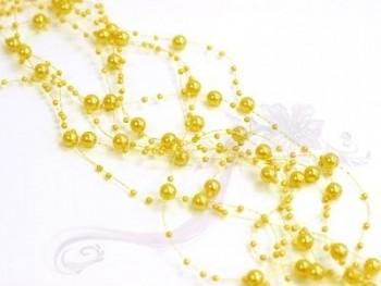 Girlanda perlová, žlutá