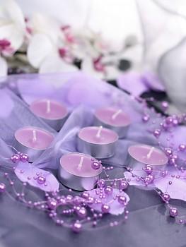 Girlanda perlová,  lila