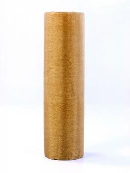 Organza třpytivá, krystalická zlatá, šířka 16 cm, návin 9 m