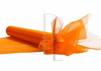 Organza hladká pomerančová, 16cm/9m