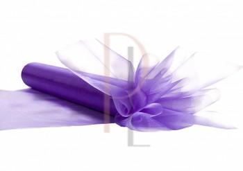 Organza hladká lila, šířka 16 cm, návin 9 m