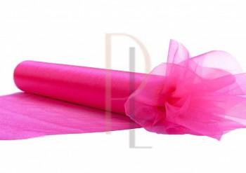Organza sněžná růžová, šířka 36 cm, návin 9 m