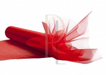 Organza sněžná červená, 16cm/9m