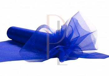 Organza sněžná (tm). modrá, 16cm/9m