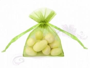 Sáčky z organzy 7,5*10cm, zel. jablko