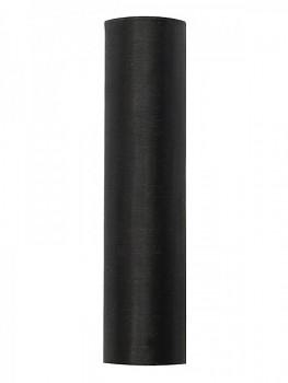 Organza hladká černá, 16cm/9m