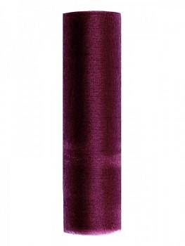 Organza hladká bordo, 16cm/9m