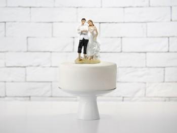 Figurka novomanželé pláž, 15,5cm