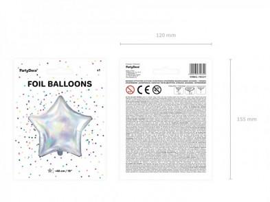 Foliový balónek holografická hvězda, 48 cm 731230249