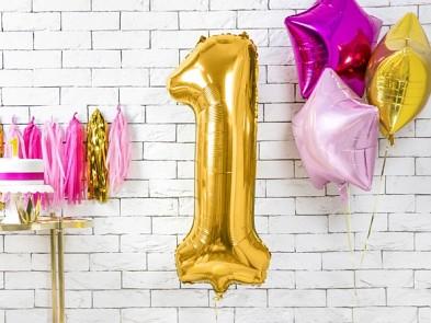 Foliový zlatý balónek číslice 1, 86 cm 731232815