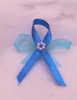 Svatební vývazky, modré s kytičkou 731256731