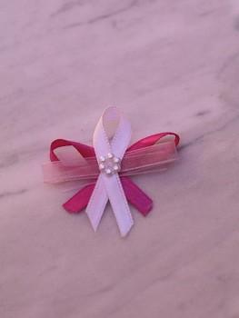 Svatební vývazky, růžové s kytičkou 731256741