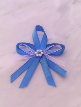 Svatební vývazky, královsky modré s kytičkou 731256837