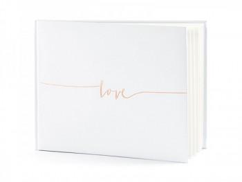 "Svatební kniha ""Love"" bílá, 22 listů 731260729"