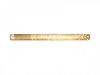 Vystřelovací konfety zlaté srdíčka, 60 cm 731232861