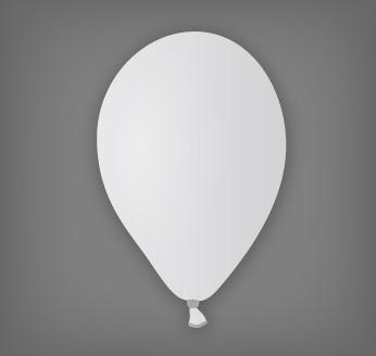 Pastelový balónek bílý