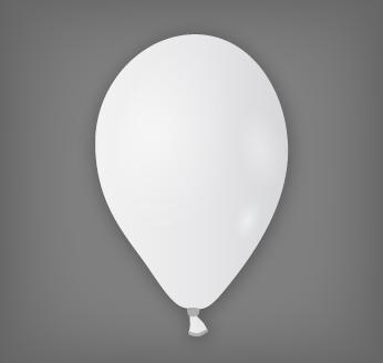 Dekorační balónek bílý