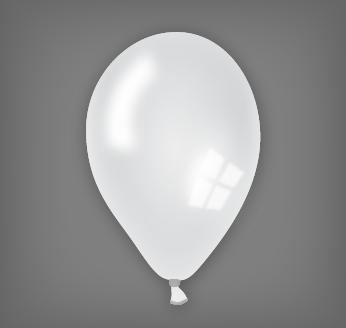 Perleťový balónek bílý