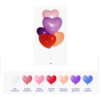 Balónek srdce červený dekorační