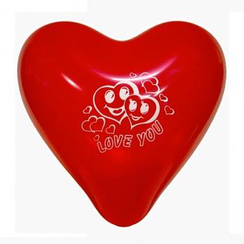 Balónek srdce velký červený s potiskem LOVE YOU