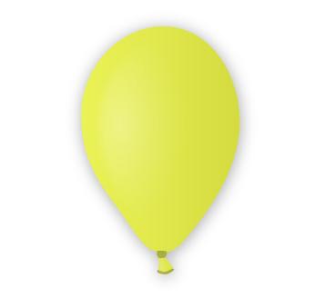 Pastelový balónek žlutý