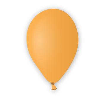 Pastelový balónek oranžový